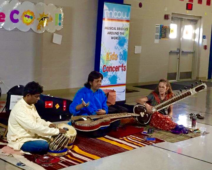 Musical Bridges Around the World -  Kids to Concerts in San Antonio, TX with Pandit Debashish Bhattacharya and Subhasis Bhattacharjee