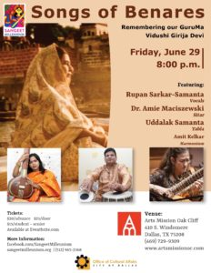 Songs of Benares Event Poster